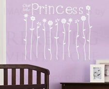 Wall Sticker Decal Quote Vinyl Art Lettering Girl's Room Our Little Princess B43