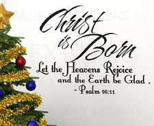 Wall Art Decal Sticker Quote Vinyl Saying Christ is Born Christmas Holiday C20