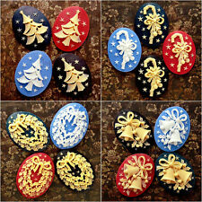 Resin Cabochons flatback wholesale Holiday Christmas Theme Colour Size U choose