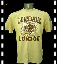 BRAND NEW GENUINE MEN LONSDALE COTTON  T SHIRT SIZE S/M/L/XL/XXL,BEIGE