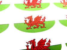 Wales Flag Oval Seal Labels, Welsh Flag Stickers for Gift Wrap, Envelopes, Bags