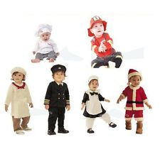 0-30M Baby Party Dress Up Costume Set Chef, Kitchen Girl, Santas, Pilot, Fireman