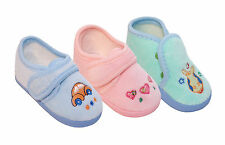 BABY BOYS & GIRLS WARM WINTER SLIPPERS BOOTIES - PRAM SHOES AGE 0-12 MONTHS