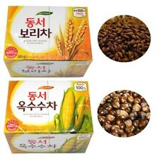 Korean 100% Corn Tea, PURE Barley Tea - 60 Teabag (30T x 2Box = 600g) Family Tea