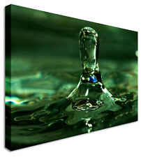 Large Droplet Of Water Canvas Wall Art Prints Pictures