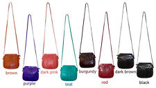 Genuine Eel skin Leather Mini-disco Handbag Shoulder Cross body handbag 8 Colors