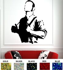 SKINHEAD MAN WALL STICKER - SPARKLE VINYL - 5 COLOURS - SKA TWO TONE LAMBRETTA
