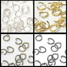 200 pieces 4,5,6,7,8mm Metal Open Jump Rings