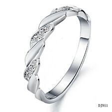 Fashion white gold platted Rings Mens band finger jewelry rhinestone CZ gift 911