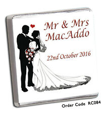50 Personalised Chocolate Wedding Favours- AMAZING DESIGNS/OWN/ AND FREE CHOC !