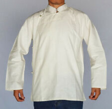 TRADITIONAL TIBETAN SHIRT FOR MEN OR WOMEN COTTON WHITE