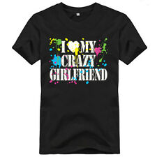 I LOVE MY CRAZY GIRLFRIEND Neon Adult Humor Valentine's Day Love Funny T-Shirt