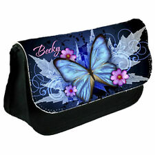 Personalised Butterfly Make Up / Clutch Bag / Pencil Case Christmas Gift for Her