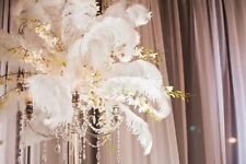 """White OSTRICH FEATHERS  8"""" - 24"""" for Wedding Prom Centerpiece decoration USA"""