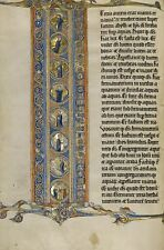 Initial I Scenes Creation World & Crucifixion 1270 Vintage Art Poster/Photo  R