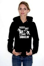 Horse Cleaning Hoodie Every day I'm Shovelin All colours & Sizes Gift UK Shop