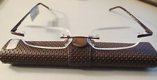 Magnivision & Foster Grant Compact Reading Glasses With Hard Case +2.75 NWT
