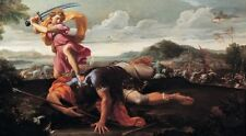 David & Goliath Guillaime Courtois 1660 Art Photo/Poster Repro Print Many Sizes