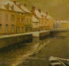 Canal In Bruges Winter Henri Le Sidaner Winter1899 Repro Art Photo/Poster Print