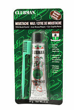 CLUBMAN MOUSTACHE WAX WITH BRUSH/COMB (CHOOSE 4 COLORS)  0.5 OZ.