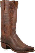 Men's 1883 By Lucchese Western Boots N1596 5/4 Tan Burnished Ranch Leather