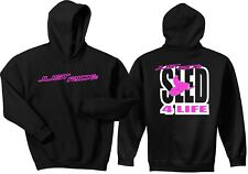 JUST RIDE SLED 4 LIFE HOODIE SWEAT SHIRT SNOW MOBILE ARCTIC CAT YAMAHA POLAR
