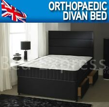 4FT SMALL 4FT6 DOUBLE ORTHOPAEDIC DIVAN BED +10 INCH ORTHOPAEDIC MEDIUM MATTRESS