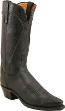 Women's 1883 By Lucchese Western Boots N4605 5/4 Black Ranch Leather
