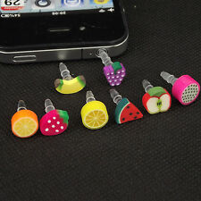 1 pc Fruit 3.5mm Anti Dust Earphone Jack Plug Stopper Cap For iPhone HTC Samsung