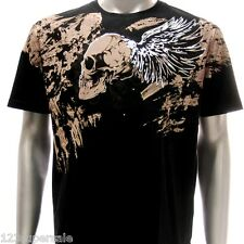 a17b M L XL XXL Artful T-shirt Tattoo Skull Angel Demon Skate Metal Hard Rock