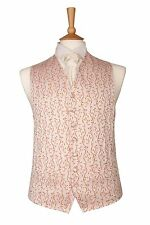 MENS AND PAGE BOYS IVORY BURNT ORANGE WEDDING DRESS SUIT WAISTCOAT ALL SIZES