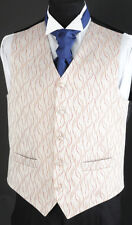 MENS AND PAGE BOYS CLARET AND GOLD SWIRL WEDDING DRESS SUIT WAISTCOAT ALL SIZES