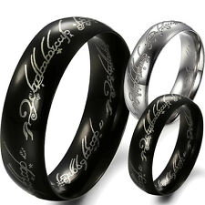 New Lord of the Rings Men's band Ring Stainless steel powerful King 2 colors 324