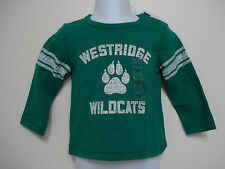 BABY GAP BOYS GREEN WESTRIDGE WILDCATS LONG SLEEVE SHIRT NWT