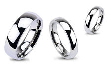 Band Ring Titanium Men Women Glossy Mirror Polished Wedding Different Sizes New