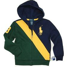 NWT RALPH LAUREN POLO BOYS SWEATSHIRT HOODED TRACK JACKET BIG PONY 4 5 6 7 8-20