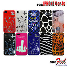 10 COLOUR FANCY GLOSSY HARD MOBILE PHONE CASE COVER FOR IPHONE4 4S