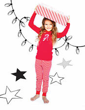 Skylar Luna: Organic Pajamas Set - Long Sleeved - Candy Cane Red