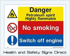 PETROLEUM SPIRIT SIGNS & STICKERS ALL SIZES! ALL MATERIALS! FREE P+P (MP31)