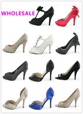 100% WHOLESALE LOT womens dress high heel platform pump sandals shoes US 6-11