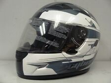 CYBER US-39 FULL FACE STREET HELMET PEARL WHITE AND GREY *NEW*