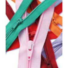10 inch/ 25cm Light Weight YKK Open End Zip - 20 Colours to choose from