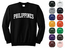 Country Of Philippines Adult Crewneck Sweatshirt College Letter
