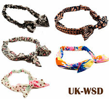 STYLISH ♥ ELASTIC BOW TIE HAIRBANDS HAIR BANDS HEADBANDS HEAD BANDS GIRLS LADIES