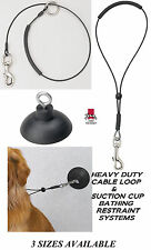 "HEAVY DUTY Dog Cat Grooming""HOLD EM""BATH TUB RESTRAINT HOOK&Loop Noose SYSTEM"