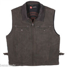 Kakadu Kelly Vest concealed carry espresso left or right hand canvas with liner