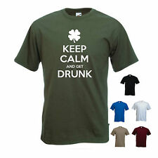 'Keep Calm and get Drunk' St Patricks Day / St. Patrick's Day mens T-shirt