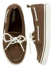 NWT Gymboree Plaid for Spring Easter Shoes 9 10 12 Brown Canvas Loafer Tie Boat
