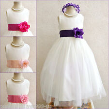 IVORY PURPLE PLUM PINK TODDLER BRIDAL PARTY PAGEANT RECITAL FLOWER GIRL DRESS
