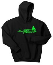 JUST RIDE SLED HOODIE SWEAT SHIRT SNOW MOBILE SKI DOO ARCTIC CAT YAMAHA POLARI